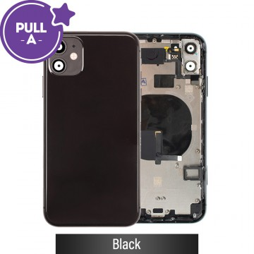 Rear Housing with Small Parts for iPhone 11-Black