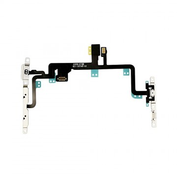 Power Flex Cable Volume Buttons Mute Switch With Brackets and Flash for iPhone 7 Plus