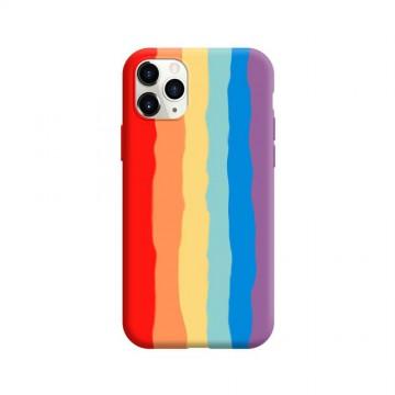 Rainbow Liquid Silicone Case Cover for iPhone 11 Pro Max (6.5'')