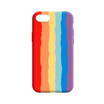 Rainbow Liquid Silicone Case Cover for iPhone 7 / 8 / SE (2020)